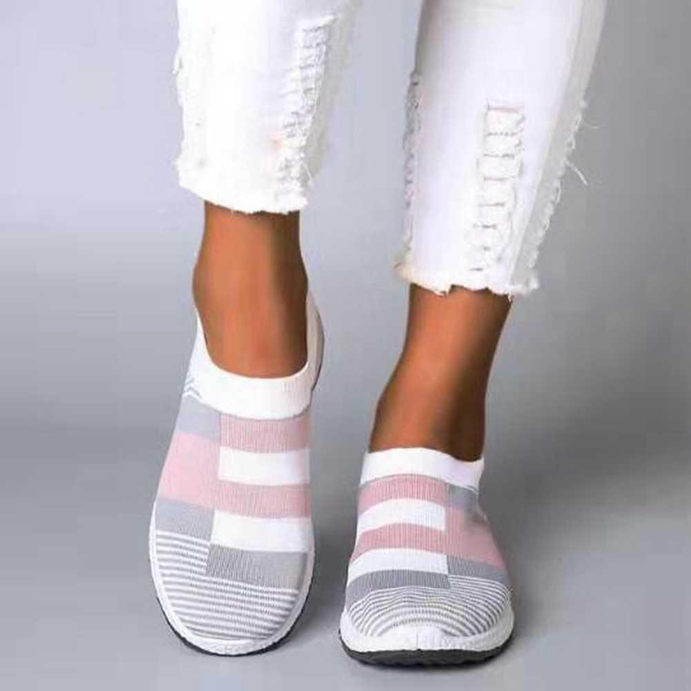 KarinLuna 2020 yeni gelenler büyük boy 43 kadın loafer'lar daireler çizmeler yuvarlak ayak med topuklar karışık renkler yaz Casual kadın ayakkabı