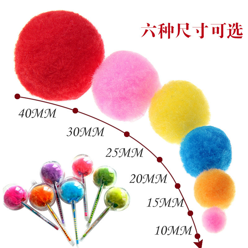 10 Colors Mixed DIY Hand-made Material Plush Ball Kindergarten Color Pom Children Art And Craft Educational