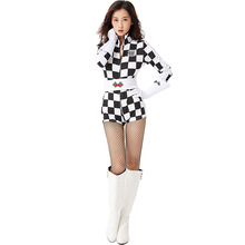 Fancy Racer Costume Cosplay For Women Halloween Adult Carnival Performance Party Suit Dress Up