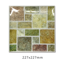 Tile Sticker Waterproof Bathroom Kitchen Wall Self-adhesive Mosaic Marble Tagore Backsplash Decoration