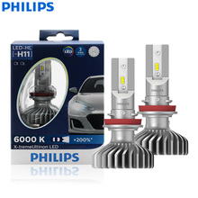 Philips X treme Ultinon LED H11 12V 11362XUX2 6000K Bright Car LED Headlight Auto HL Lamp Beam +200% More Bright (Twin Pack)