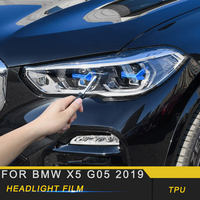 For BMW X5 G05 2019 Car Styling Front Light Lamp Headlight HD Film Protector Cover Trim Sticker Exterior Accessories