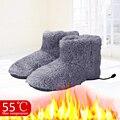 Теплые зимние ботинки моющиеся комфортные плюшевые ботинки с электрическим подогревом Утеплитель для ног подарок для обувь для мужчин и же...
