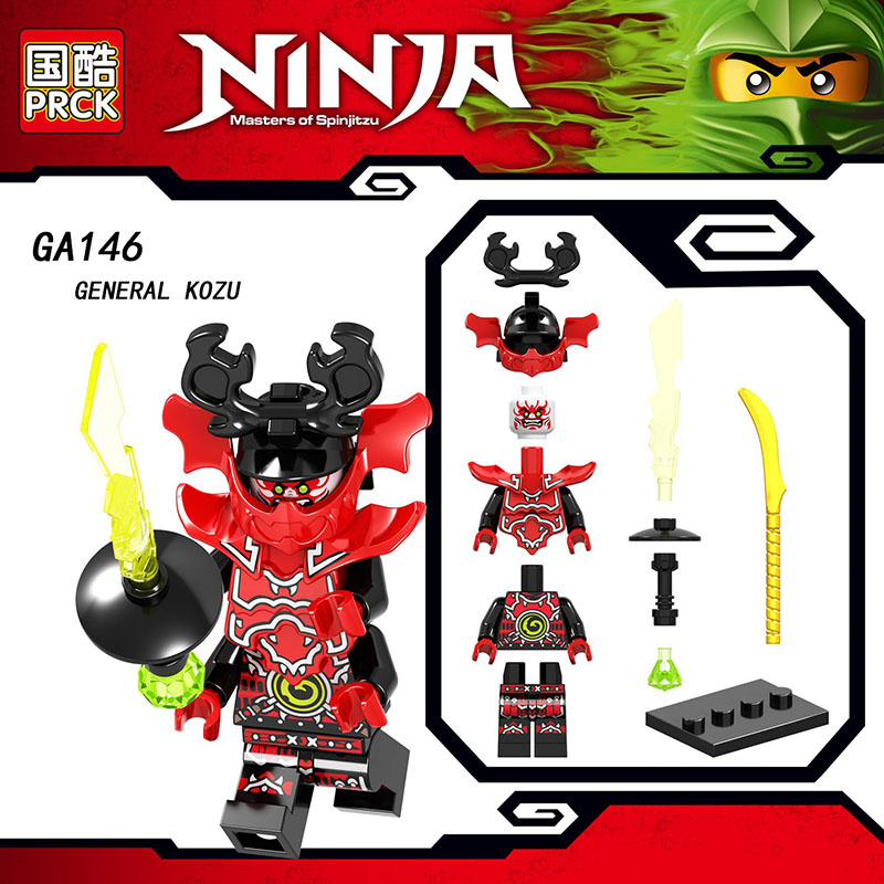 Single Sale LegoINGlys Ninjagoed Figures NYA ECHO ZANE JAY GENERAL KOZU Bricks Action Diy Toys For Kid Brithday Gifts GA146