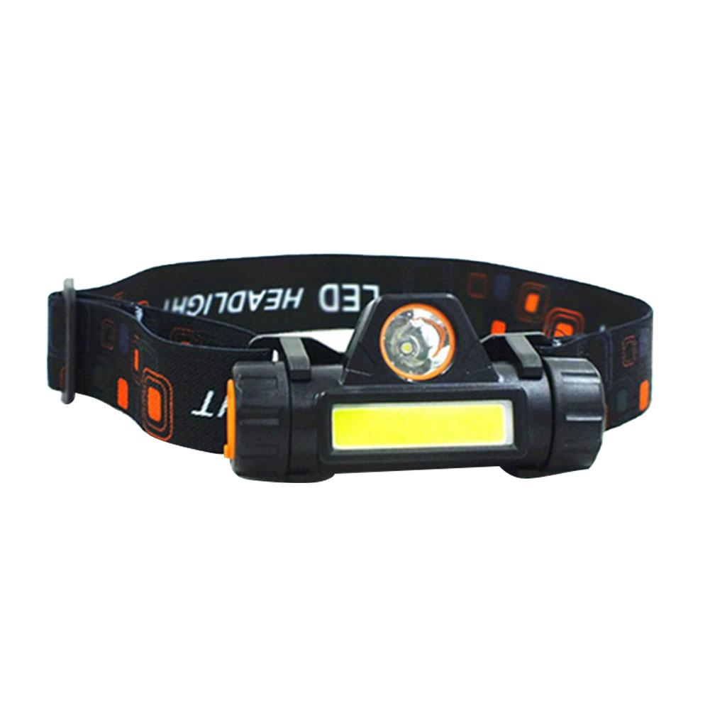 COB Headlight USB Charging Multifunctional Head-mounted 18650 Battery Headlamp Torch For Outdoor Emergency Lighting