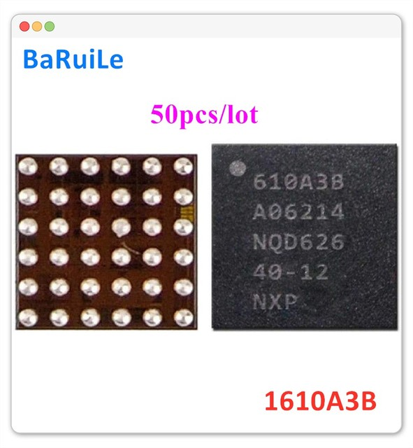 BaRuiLe 50pcs  charging IC U2 610A3B for iphone 7 7 Plus 7P 7G charger IC 1610A3B chip U4001 36Pin on Board Ball Repair