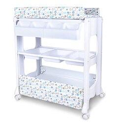 Cambiador de cama Bb multifuncional para bebé, mesa de lactancia, cama de masaje táctil para bebé recién nacido con bañera, puede tomar un baño