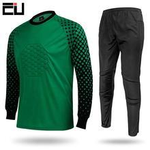 Shirt Goalkeeper Soccer Jerseys-Kit Football-Uniform Training-Pant Sponge-Protection