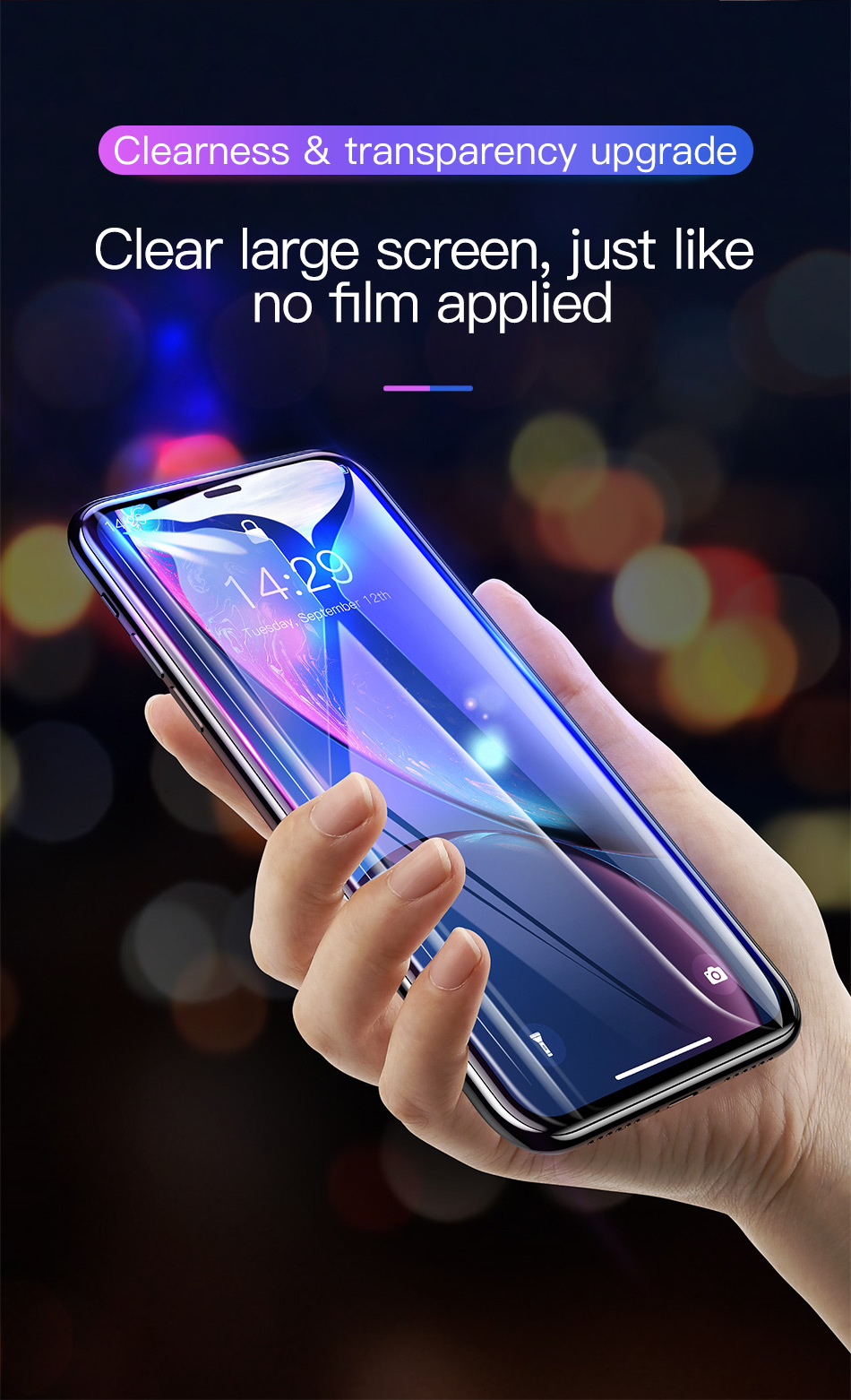 Baseus 0.3mm Full Coverage Tempered Glass For iPhone Xs Xs Max XR 2018 Screen Protector Thin Protective Glass For iPhone X Xs XR H4e982d83663e485fa2879cdb30ac27431