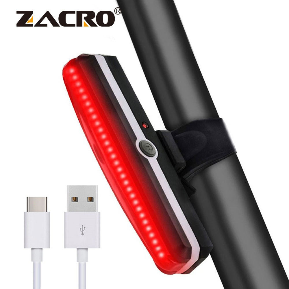 Zacro Bicycle Light Rechargeable Front Bike Tail Rear Light Bright Bike Led Flashlight for Bicycle Luz Bicicleta Luces Bicicleta