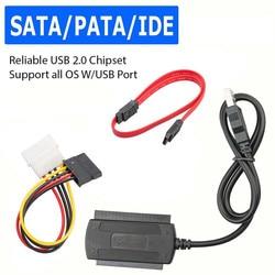 USB 2.0 to IDE SATA S-ATA 2.5 3.5 HD HDD Hard Drive Adapter Converter