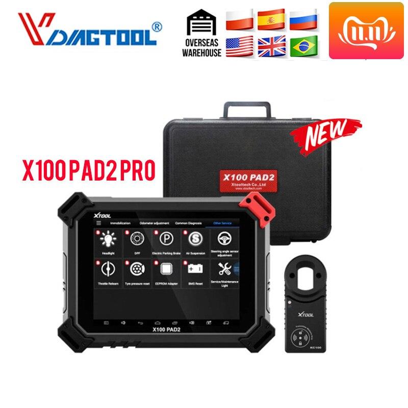 XTOOL X100 PAD2 Pro Pad 2 лучше, чем X300 Pro3 DP Auto Key Программист с 4 м и 5 м Immo для большинства моделей автомобилей