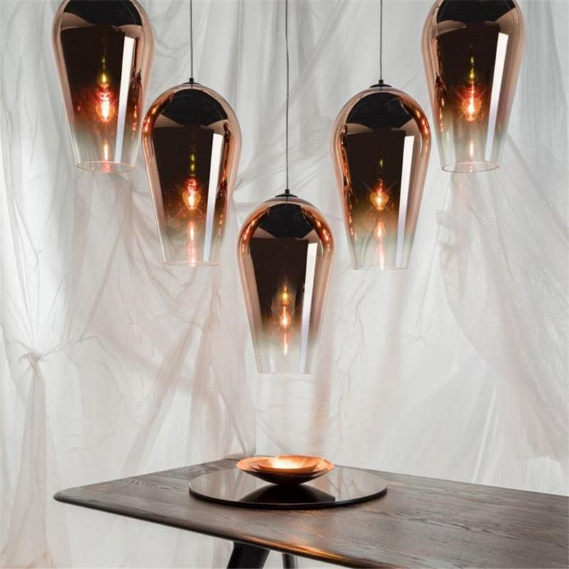 Nordic Fade Glass Led Pendant Lighting for Living Room Industrial Lamp Modern Pendant Lights Home Loft Hanging Light Fixture