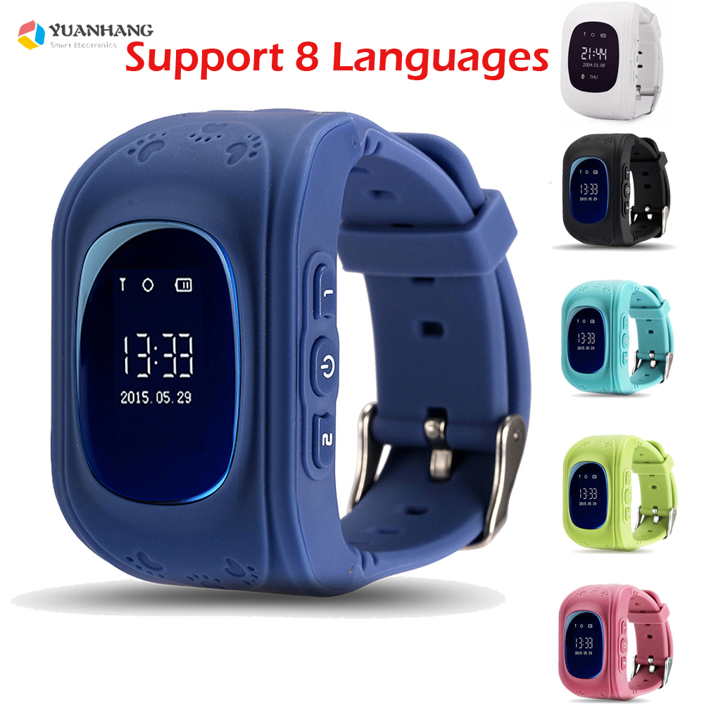 <font><b>Q50</b></font> OLED HD Screen <font><b>Smart</b></font> Safe GPS GSM SOS Call Location Locator Tracker <font><b>Watch</b></font> Wristwatch for Kids Child Anti-Lost Monitor Baby image