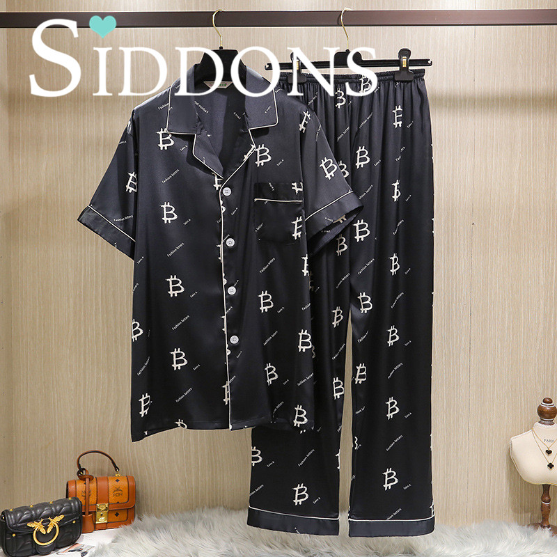 Siddons underwear men long pants satin pajamas sets with floral print sexy new arrival beautiful night suits pijamas sets HOT|Men's Pajama Sets| - AliExpress