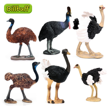 New Simulation Wild PVC Animal Ostrich Cub Model Action Figures Collection Miniature Cognition Educational Toy for children Gift