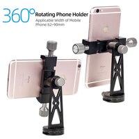 Cimapro-Adaptador de montaje para trípode, soporte de clip para teléfono móvil, rotación Vertical 360, trípode para teléfonos inteligentes, CP-5