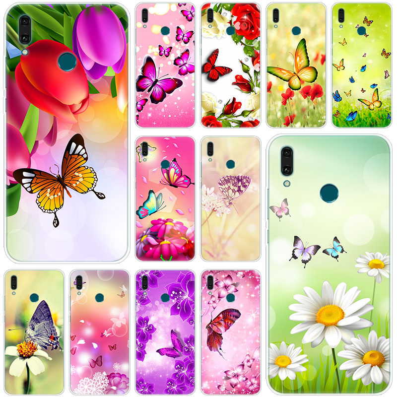 Hot Butterfly on white flower Silicone <font><b>Case</b></font> for <font><b>Huawei</b></font> Mate 30 20 10 Lite Pro Y9 <font><b>Y7</b></font> Y6 Prime Y5 <font><b>2019</b></font> 2018 Pro 2017 Fashion <font><b>Cover</b></font> image