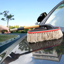 LEEPEE Car Wash Brush Dust Removal Brush Car Cleaning Tools Telescoping Long Handle Fibre Broom Rotating Mop Car Accessories