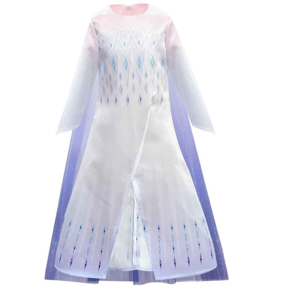 אלזה שמלת מלכת שלג אנה ילדים קוספליי אנימה נסיכת שמלת ילד קרנבל תלבושות חג המולד Brithday המפלגה כחול חצאית סט