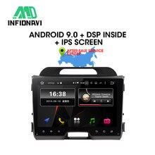 Infidnavi IPS אנדרואיד 9.0 רכב dvd עבור KIA sportage 2010 2015 gps ניווט לרכב רדיו וידאו סטריאו מולטימדיה