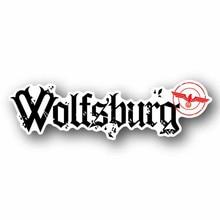 Wolfsburg รถสติกเกอร์กันน้ำส่วนบุคคลรถบรรทุกแล็ปท็อปรถจักรยานยนต์ Auto อุปกรณ์ตกแต่งตัวถังรถ PVC,13ซม.* 3ซม.
