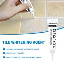 Beautiful seaming agent white paste for tile ground seaming Sewing agent tile floor whitening cream(China)