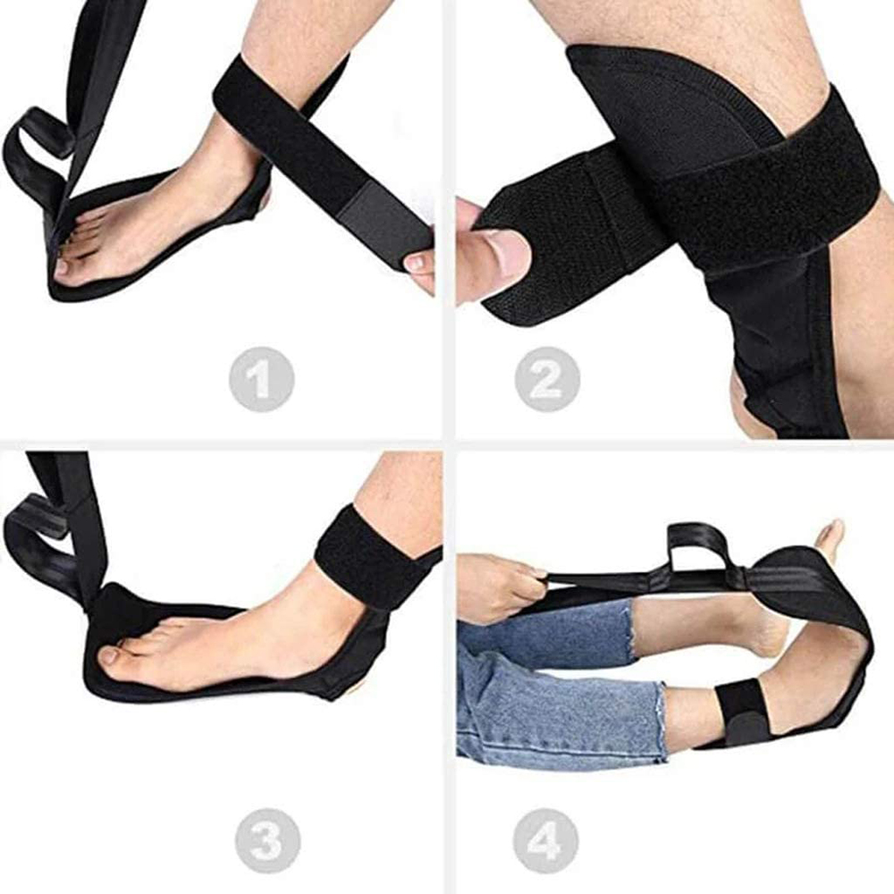 Yoga Ligament Stretching Belt Safely Stretching Training Strap Stroke Rehabilitation Strap with Loops for Ballet Yoga P9