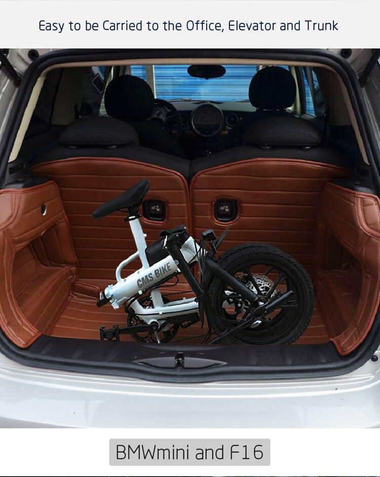 16'' lithium battery folding ebike adult electric bike city folding ebike with 36v 250w brushless motor 5