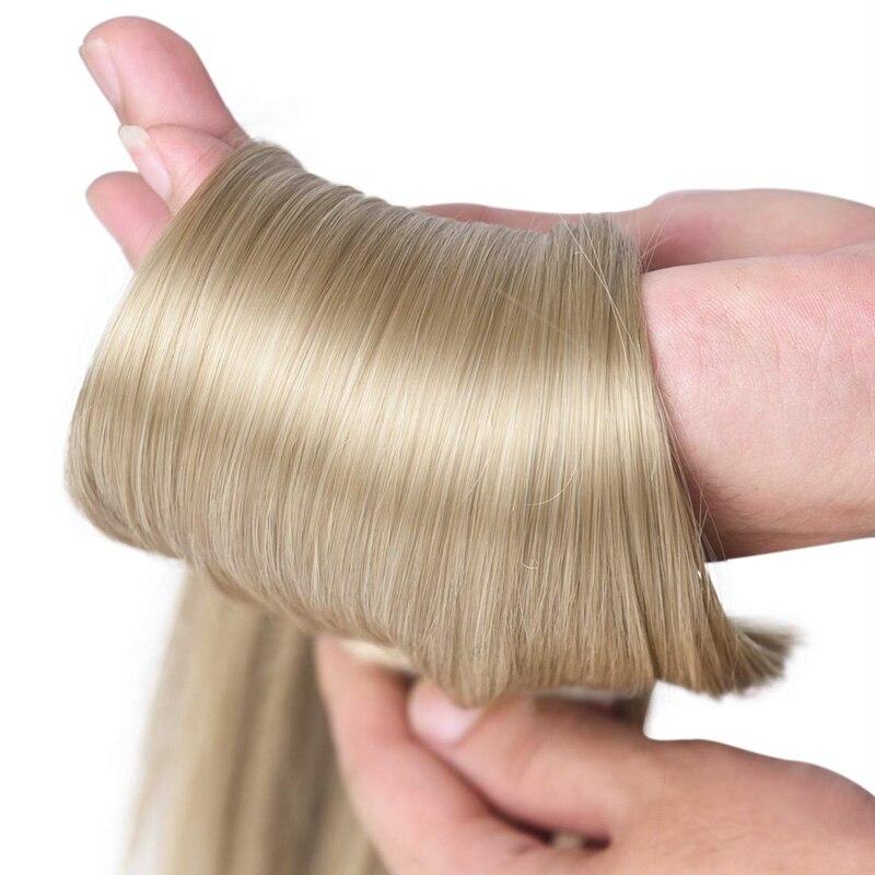 linha reta natural fake hairpieces preto marrom