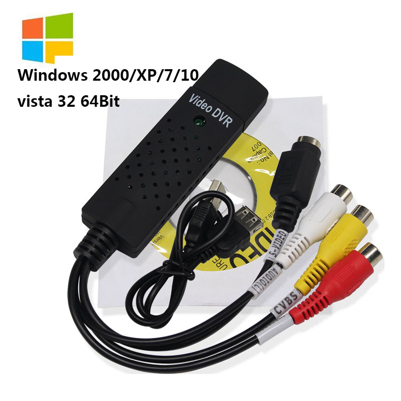 Wiistar Easycap USB 2.0 TV DVD VHS Video Capture Adapter Device Card Support For Win XP / Win 7 / Vista 32 Accessories