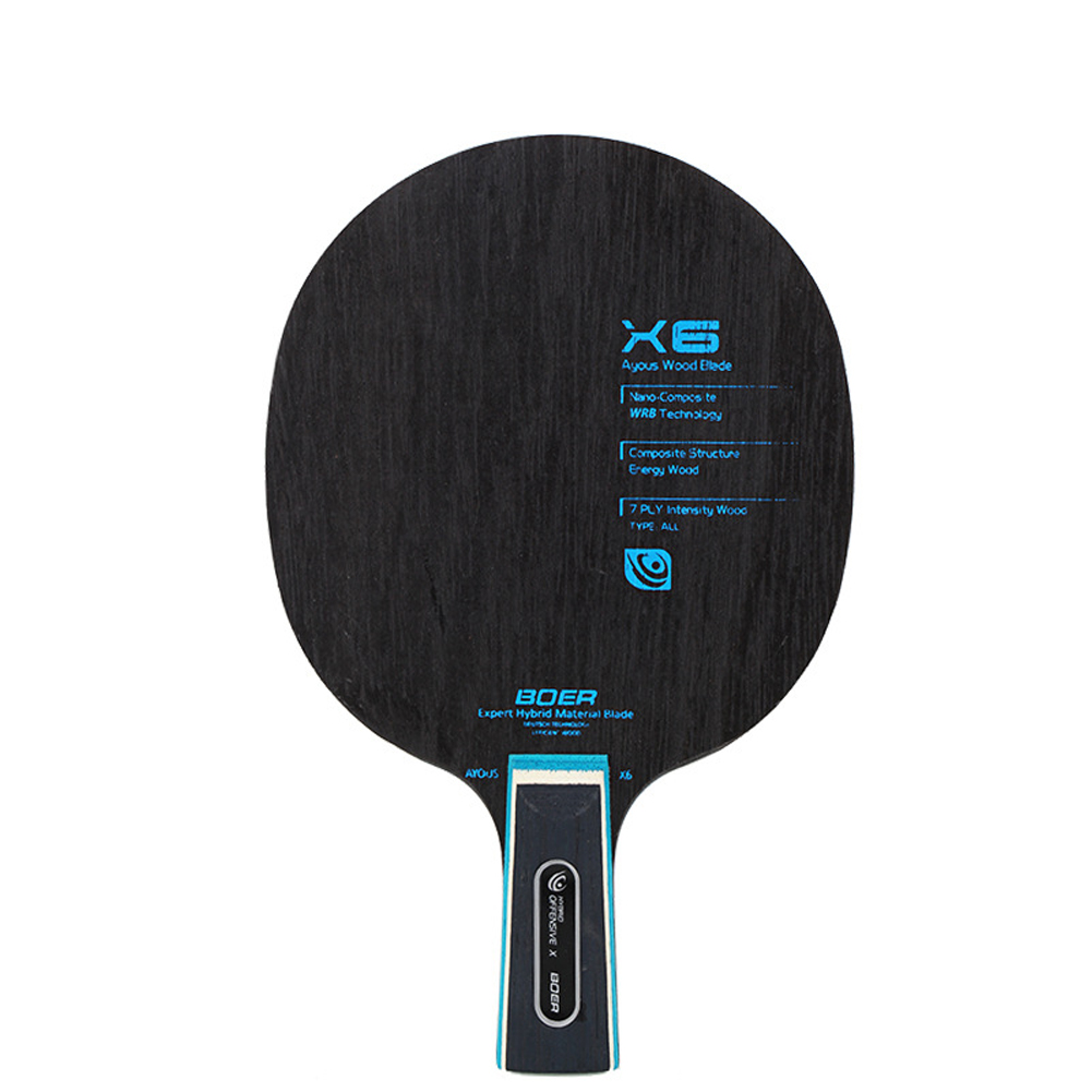 7 Ply Exquisite Indoor Accessories Bat Paddle Practicing High Speed Horizontal Grip Table Tennis Racket Blade Competition