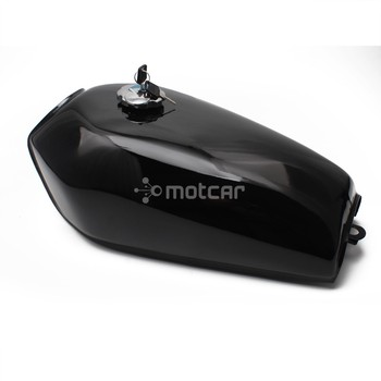 Black Metal 9L 2.4 Gal Motorcycle Fuel Oil Gas Tank Cafe Racer Vintage With Tap For Honda CG125 CG125S CG250