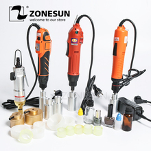 ZONESUN Portable Hand Held Electric Bottle Capping Machine Automatic With Security Ring Plastic Bottle Capper Capping Tool