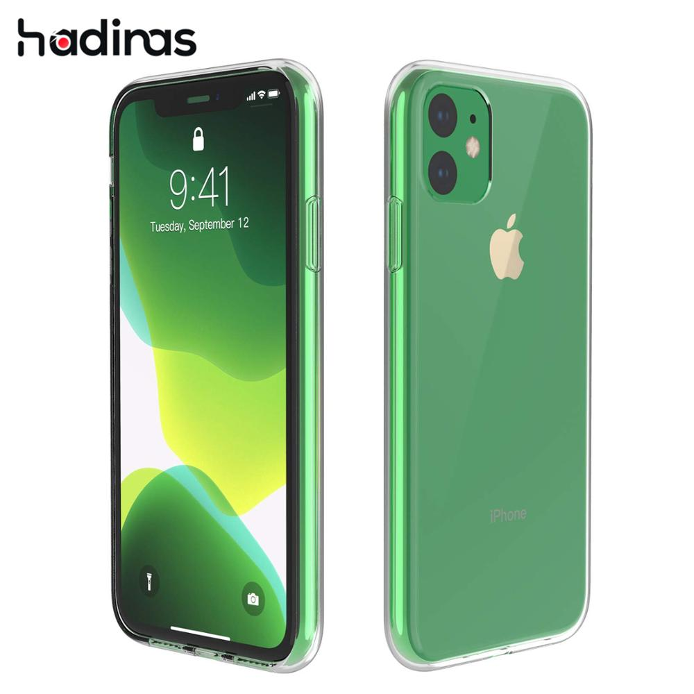 Transparent Silicone Case for iPhone 11 2019 on iPhone 11 Pro Max Ultra Thin Clear Soft TPU Case Cover for iPhone XR X XS Max image