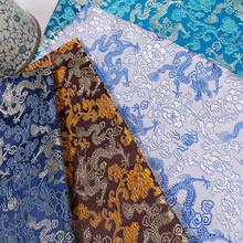 Chinese Brocade Fabric With Dragon Pattern Material For Sewing DIY Gift Box