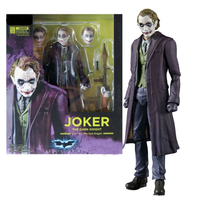 15cm Joker The Dark Knight Batman Action Figure Toys Doll Christmas Gift With Box