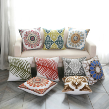 Bohemian style Embroidery Pillow case Ethnic National Handmade pillowcase for Home/Hotel frida 45*45cm