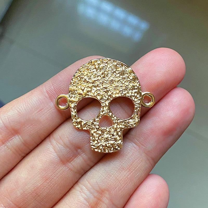 Vintage Gold Series Charm Pendant 15PCS Bird & Cross&Skull&Leopard Head&Fleur De Lis & Tortoise & Skeleton Crow Accessories