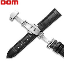 купить Genuine Leather Watchbands 18mm 20mm 22mm Universal Watch Butterfly buckle Band Steel Buckle Strap Wrist Belt Bracelet по цене 141.99 рублей