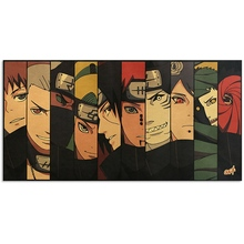 Classic Vintage Anime Cartoon Naruto Xiao Group Kraft Paper Poster Room Decoration Home Decor Wall Sticker Posters for Wall vintage anime cartoon naruto drawing poster room decoration stickers wall home decor kraft paper wall sticker posters