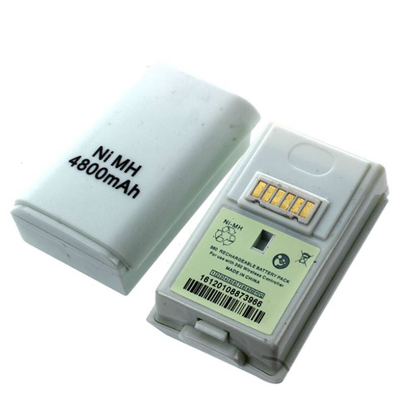 2 Pcs 4800mAh Ni-MH Rechargeable Battery For Xbox 360 Wireless Controller