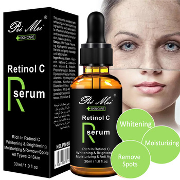 Vitamin C Face Serum Retinol Repair Skin Whitening Moisturizing Firming  Lifting Anti Wrinkle Anti Aging Remove Acne Essence spa protein essence facia moisturizing repair brighten skin firming anti wrinkle face lifting beauty salon cosmetics wholesale