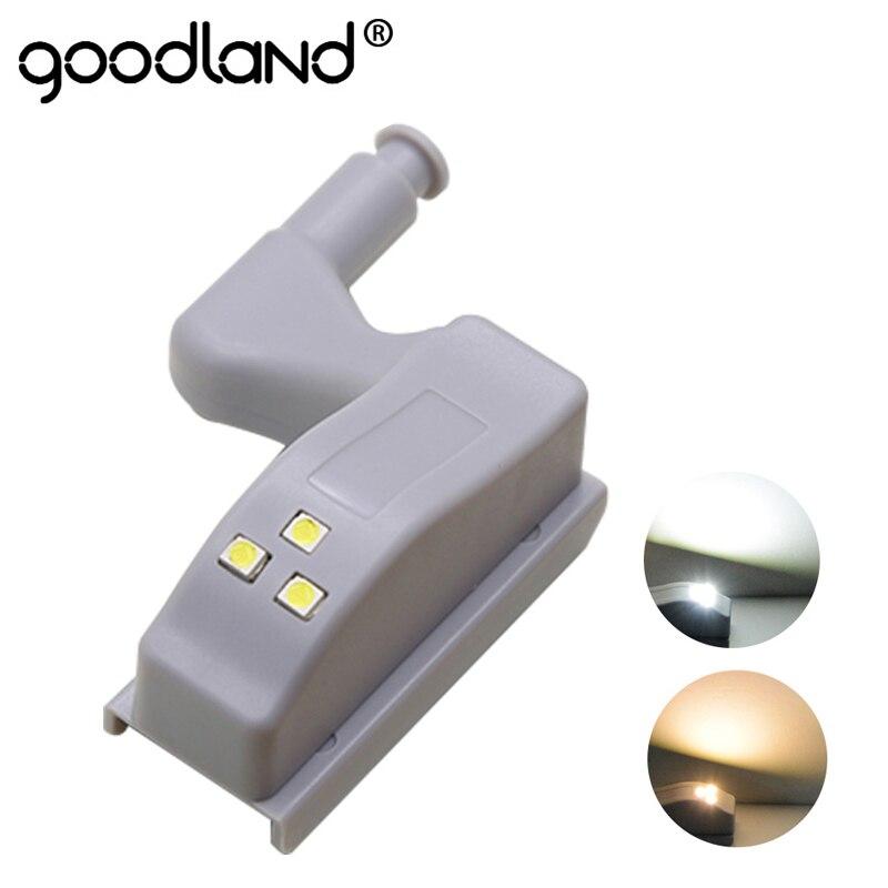 Goodland Led アンダーキャビネットライトユニバーサルワードローブ光センサー Led Armario インナーヒンジランプ食器棚クローゼ