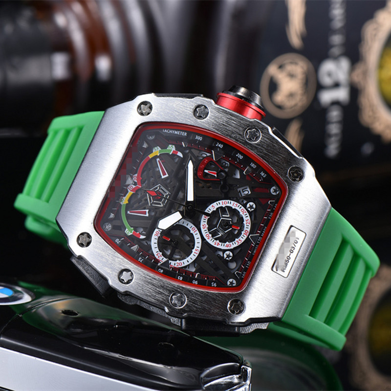 Mens Richard Watches Top Brand Luxury RM Mille Same Style Watch Men's Quartz Automatic Wristwatches DZ Male Clock Reloj Hombre