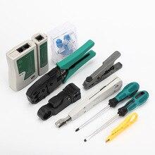 Оборудование набор инструментов сетевой кабель комбинированной установки сети сумка для инструментов сетевой кабель плоскогубцы комбинации набора отчетов технол
