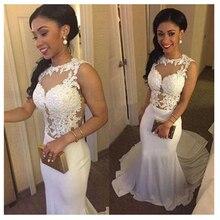 SoDigne Boho weselny sukienka 2020 aplikacje koronki syrenka suknia ślubna z pociągu biały/kości słoniowej Backless plaża panny młodej