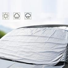1 PC voiture pare-brise neige couverture pare-soleil protecteur anti-gel antigel et pare-soleil-3 couches épaissi avec oreille demi couverture