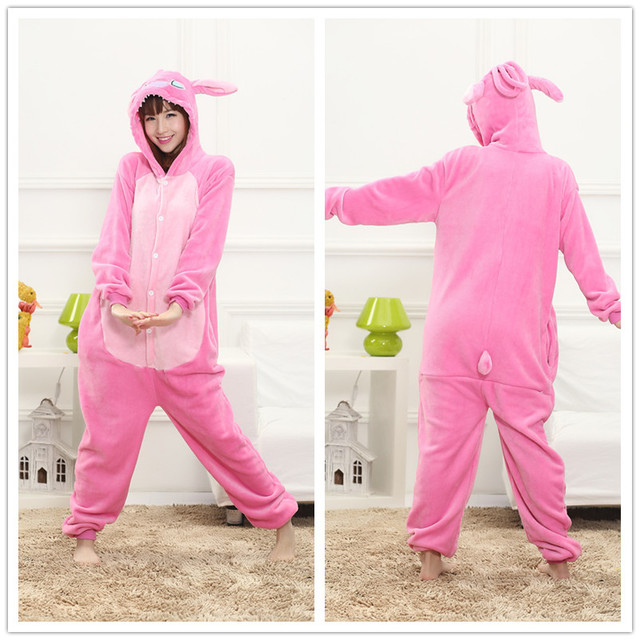 Animal Flannel Onesie For Ladies 6