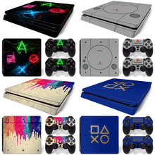 For PS4 slim Console and Controllers stickers For ps4 slim skin sticker for ps4 slim vinyl sticker